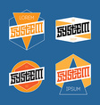 set abstract line graphic design templates vector image