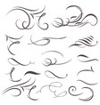 set calligraphic flourishes for design vector image vector image
