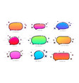 set of colorful spectrum speech bubbles on white vector image vector image