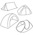 set of tent vector image vector image