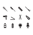 Silhouette hairdressing and make-up icon vector image vector image