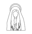 silhouette half body saint virgin mary vector image vector image