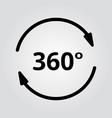 Simple set of 360 degree view related icons vector image