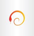snake in spiral pharmacy symbol vector image
