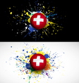 Switzerland flag with soccer ball dash on colorful vector image vector image