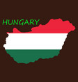 symbol poster banner hungary map of hungary with vector image vector image