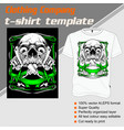 t-shirt template fully editable with skull tattoo vector image vector image