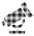 telescope halftone icon vector image