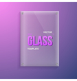 Transparent Glass vector image vector image