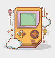 videogame play game electronic simutalor vector image vector image
