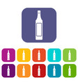 vinegar bottle icons set flat vector image vector image