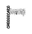 why i love cheesecake text word cloud concept vector image vector image