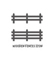 wooden fences icon simple flat style vector image