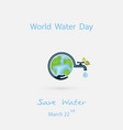 ww118bwater drop and water tap with human hand vector image
