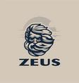 zeus head vector image