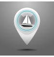 Glossy Yachting Icon vector image