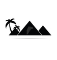 pyramid with camel travel vector image
