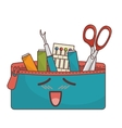 Sewing set comic character isolated icon vector image