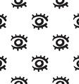 Eyes seamless pattern hand drawn vector image