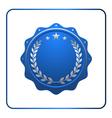 Seal award blue icon Blank medal vector image