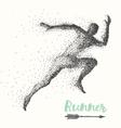 Hand drawn runner silhouette running man run vector image