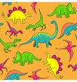 Dinosaurs pattern vector image