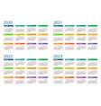 2020 calendar print template week starts sunday vector image vector image