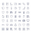 49 blank icons vector image vector image