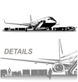airplane on aerodrome vector image vector image