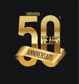 anniversary retro vintage badge 6 vector image