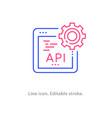 api line icon on white background editable stroke vector image