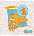 bashower set with cute foxes vector image vector image