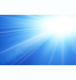 blue sky sun flare background clear summer nature vector image vector image