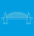 bridge icon outline style vector image