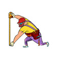 builder with measuring tape vector image