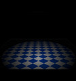 chess diagonal floor perspective background blue vector image vector image