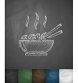 Chinese food icon Hand drawn vector image vector image