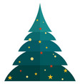 christmas tree icon flat isolated vector image