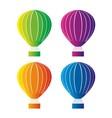 color hot air balloon vector image vector image