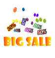 concept for sale on an isolated background vector image