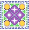 cross stitch embroidery geometrical design vector image vector image