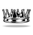 crown black and white king queen 20 vector image vector image