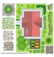 detailed landscape design elements make your own vector image