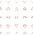 donut icon pattern seamless white background vector image vector image
