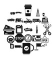 filling station icons set simple style vector image vector image