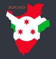 flag map of burundi vector image vector image