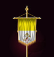 flag of vatican city festive vertical banner vector image vector image
