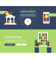 Flat Design Concept for Web Banners Investment vector image vector image
