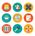 Flat design icons vector image vector image