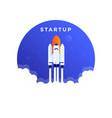 flat modern design startup vector image
